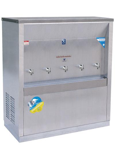 เครื่องทำน้ำเย็น 5 ก๊อก แบบต่อท่อ ระบบเปิด แบบหน้าเว้า