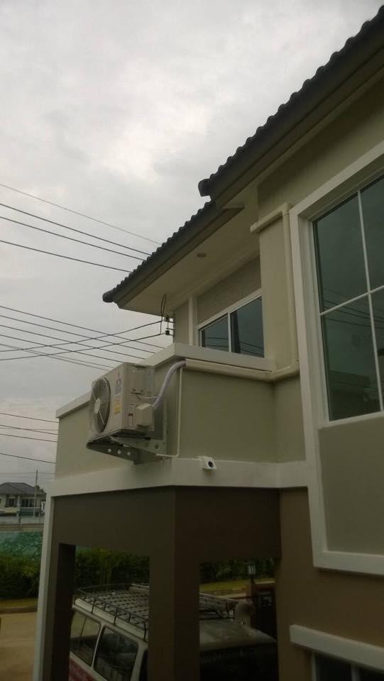 ติดตั้งแอร์บ้านลูกค้า ที่ อ.สันกำแพง Mitsubishi 2 ตัวค่ะ