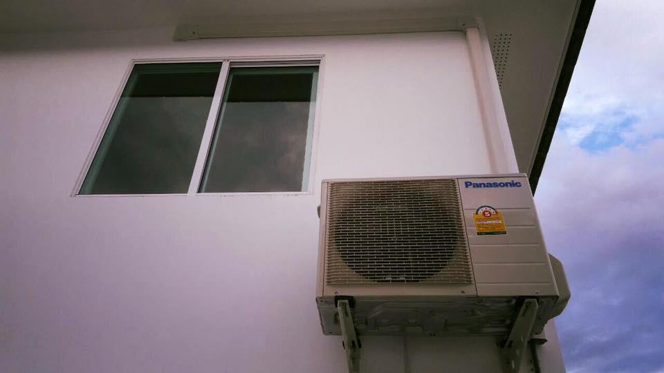 ภาพติดตั้งแอร์ Panasonic QKT 2 ชุดที่บ้านลูกค้า