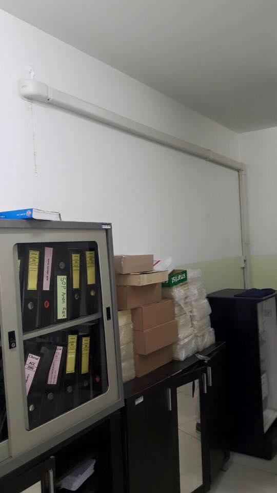 ภาพติดตั้งแอร์ Samsung Inverter ที่โรงงานแถวสันกำแพงค่ะ