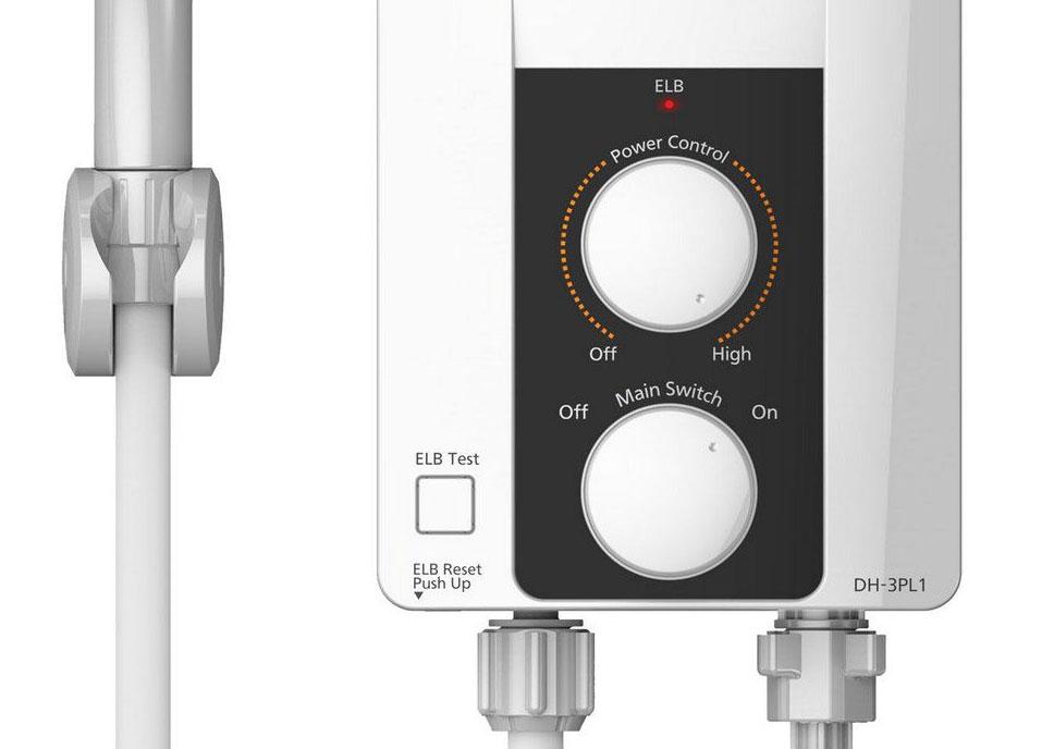 เครื่องทำน้ำอุ่น Panasonic รุ่น DH3PL1 ผู้นำด้านดีไซน์ฝักบัวประหยัดน้ำ