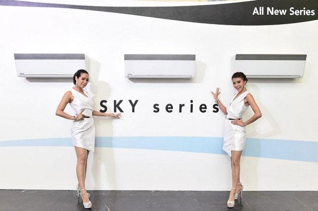 แอร์พานาโซนิค SKY Series ดีไซน์ใหม่ ลมเย็นไม่สัมผัสตัวโดยตรง