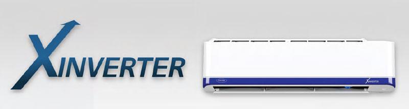 แอร์ Carrier รุ่น X Inverter ประหยัดพลังงานเบอร์ 5 (3/3 ดาว) กันฝุ่น PM 2.5