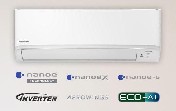แอร์ Panasonic รุ่น Deluxe nonoe รวมเทคโนโลยีนาโนอี Inverter ระบบฟอกอากาศกรอง PM 2.5