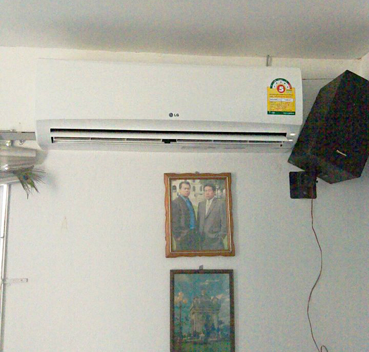 ติดตั้งแอร์ LG 12000 BTU บ้านลูกค้าใกล้เขื่อนแม่กวง
