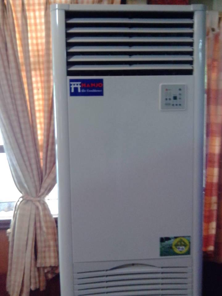 ติดตั้งแอร์แบบตู้ตั้ง 38000 BTU ราคาไม่แพง
