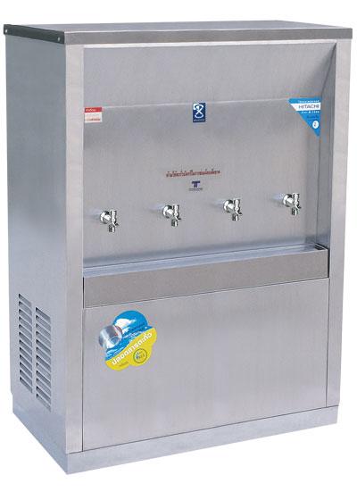 เครื่องทำน้ำเย็น 4 ก๊อก แบบต่อท่อ ระบบเปิด แบบหน้าเว้า
