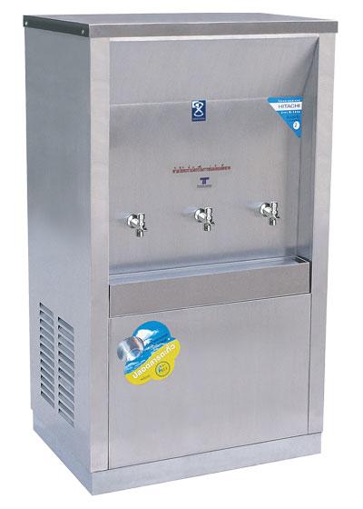 เครื่องทำน้ำเย็น 3 ก๊อก แบบต่อท่อ ระบบเปิด แบบหน้าเว้า
