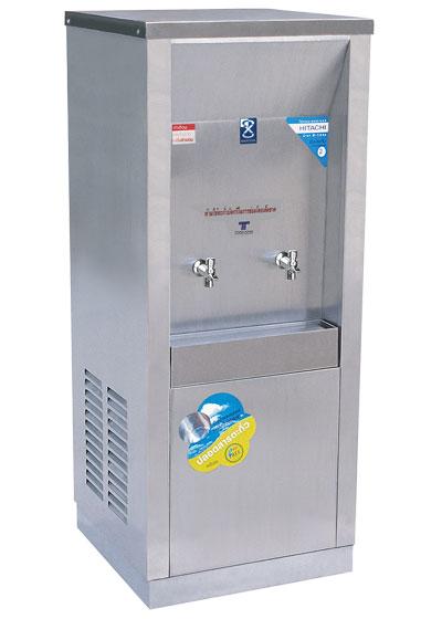 เครื่องทำน้ำเย็น 2 ก๊อก แบบต่อท่อ ระบบเปิด แบบหน้าเว้า