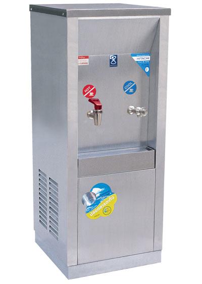 เครื่องทำน้ำร้อน-เย็น 2 ก๊อก แบบต่อท่อ หน้าเว้า