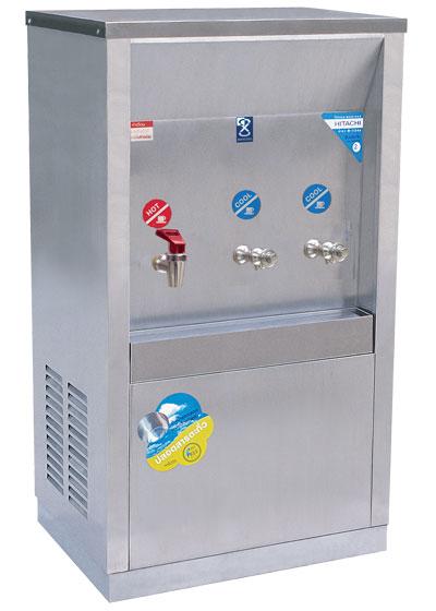 เครื่องทำน้ำร้อน-เย็น 3 ก๊อก แบบต่อท่อ หน้าเว้า