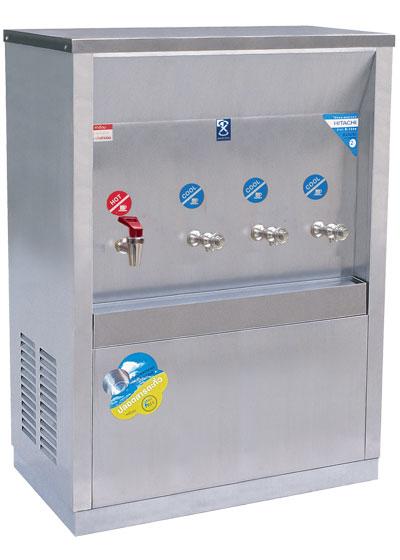 เครื่องทำน้ำร้อน-เย็น 4 ก๊อก แบบต่อท่อ หน้าเว้า