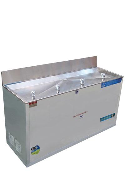 ตู้ทำน้ำเย็น 4 ก๊อก ระบบปิด หัวน้ำพุ ใช้มือกดได้