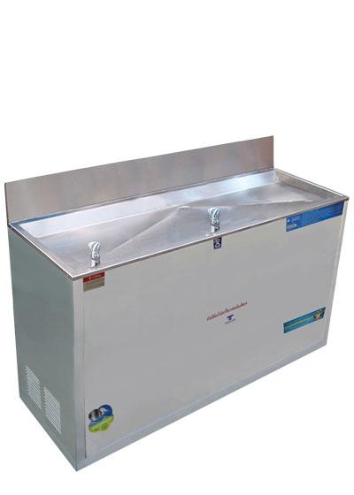 ตู้ทำน้ำเย็น 2 ก๊อก ระบบปิด หัวน้ำพุ ใช้มือกดได้