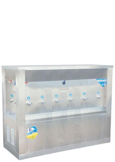 ตู้น้ำเย็น 3 ทิศ ระบบเปิด 10 ก๊อก ตำแหน่งก๊อก 2-6-2