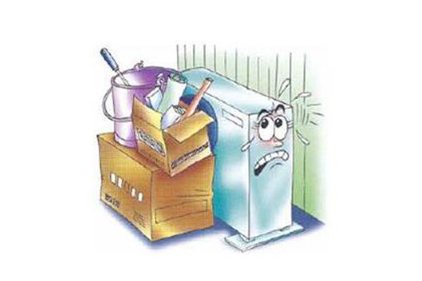 ข้อควรระวัง สำหรับตำแหน่งที่ตั้งของ ชุดระบายความร้อนแอร์