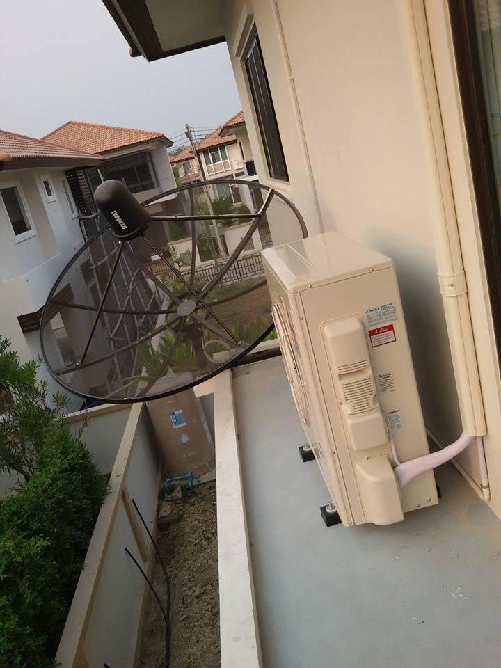 ติดแอร์+เครื่องทำน้ำอุ่น บ้านลูกค้า เตรียม Build in ภายในค่ะ