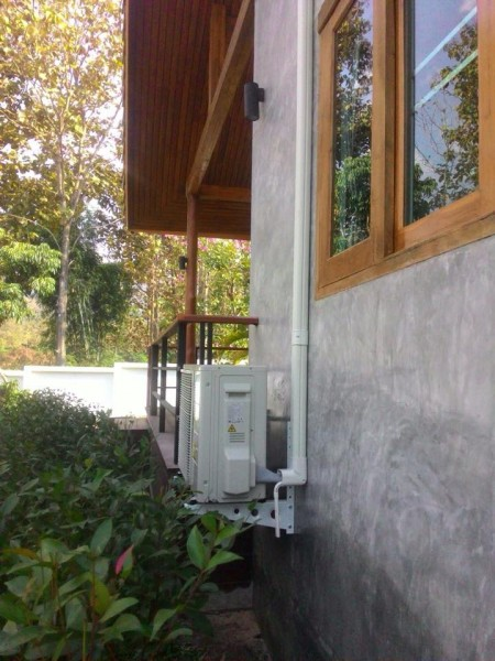 ผลงานการติดตั้งแอร์ Daikin แบบ Inverter 2 ชุดที่บ้านลูกค้า