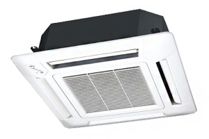 แอร์ Fujitsu แบบ 4 ทิศทางติดฝ้าเพดาน ขนาดใหญ่ ทำความเย็นความร้อนได้