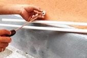 ท่อน้ำทิ้ง PVC เครื่องปรับอากาศยาว 6 เมตร