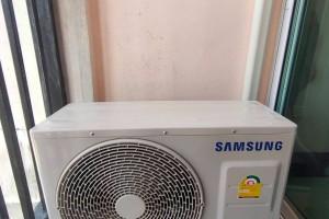 ภาพงานติดตั้ง เครื่องปรับอากาศ SAMSUNG แบบ Inverter ขนาด 18000 บีทียูค่ะ